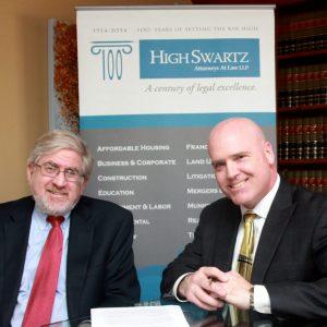 Photo caption: (L to R) Joel Rosen, managing partner of High Swartz and Thomas Panzer, managing partner of McNamara, Bolla & Panzer.