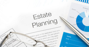 Close up of a Family Estate planning document