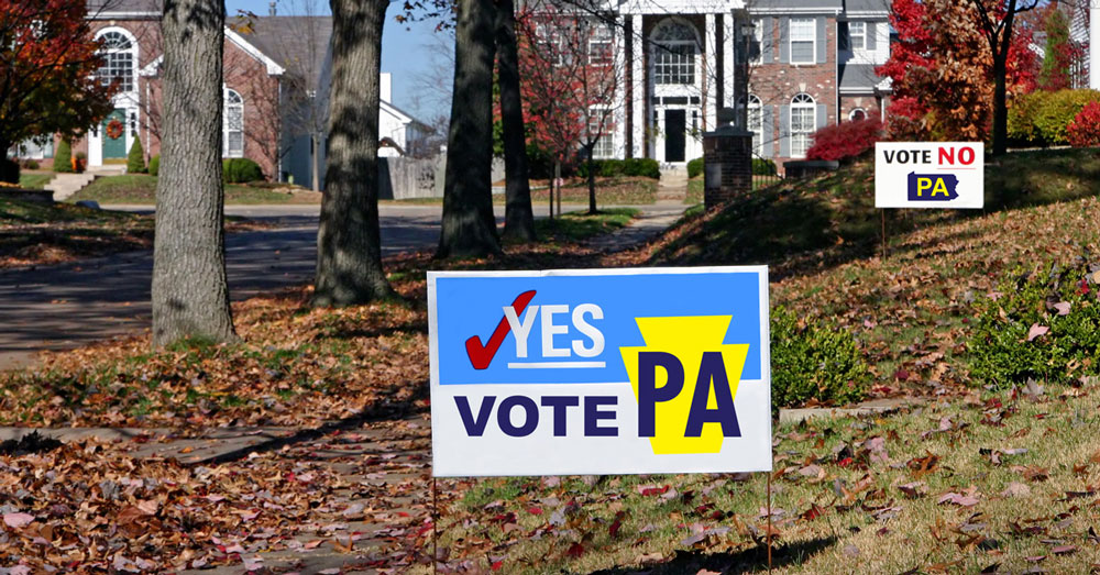 Political yard signs in pennsylvania | can they be banned? | High Swartz Law Firm blog