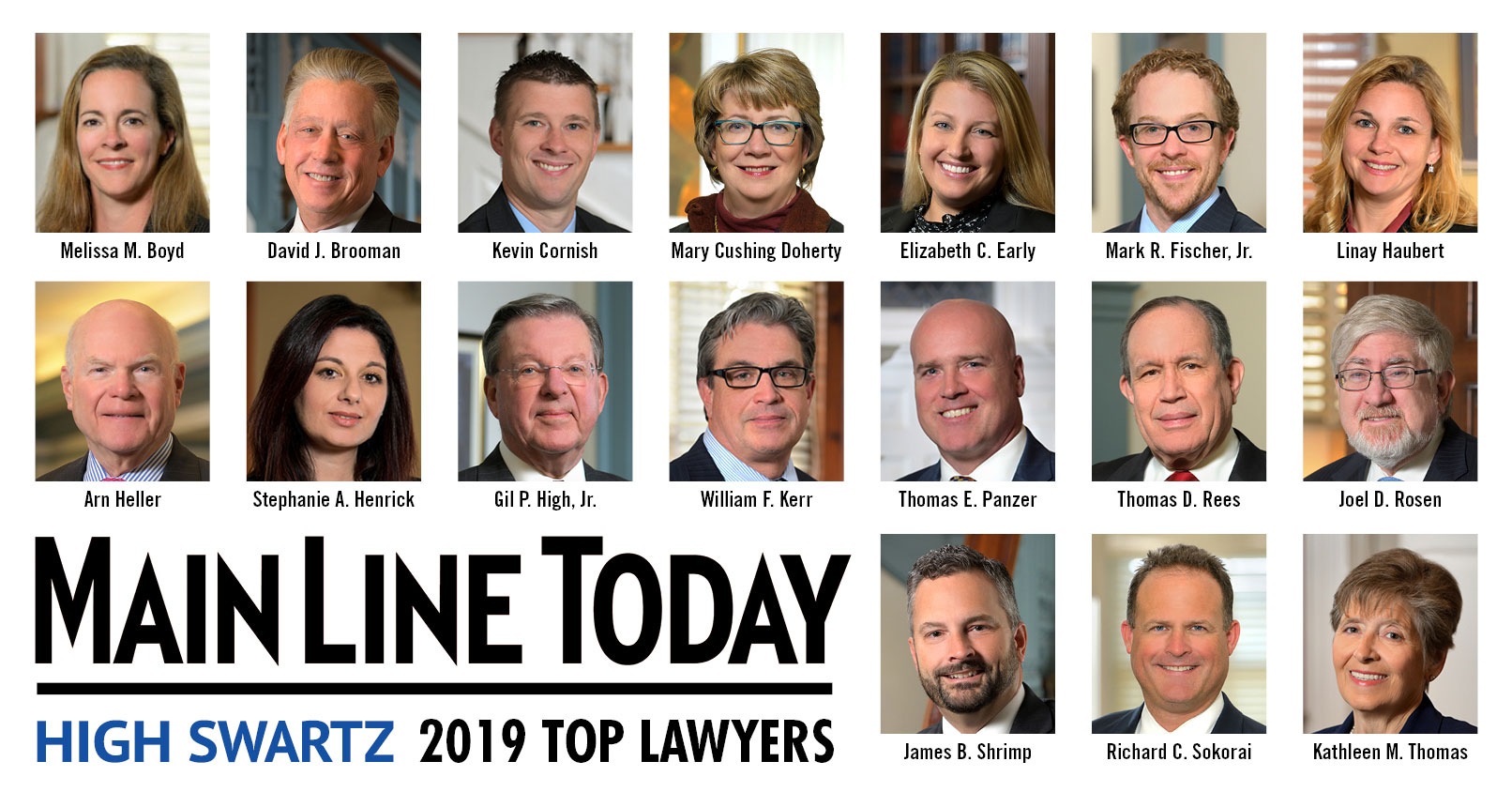 17 High Swartz Attorneys Named Top Lawyers