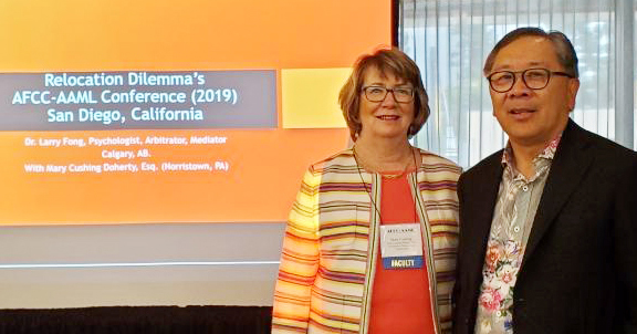 mary cushing doherty and Dr. Larry Fong speak at AFCC AAML conference in San Diego 2019
