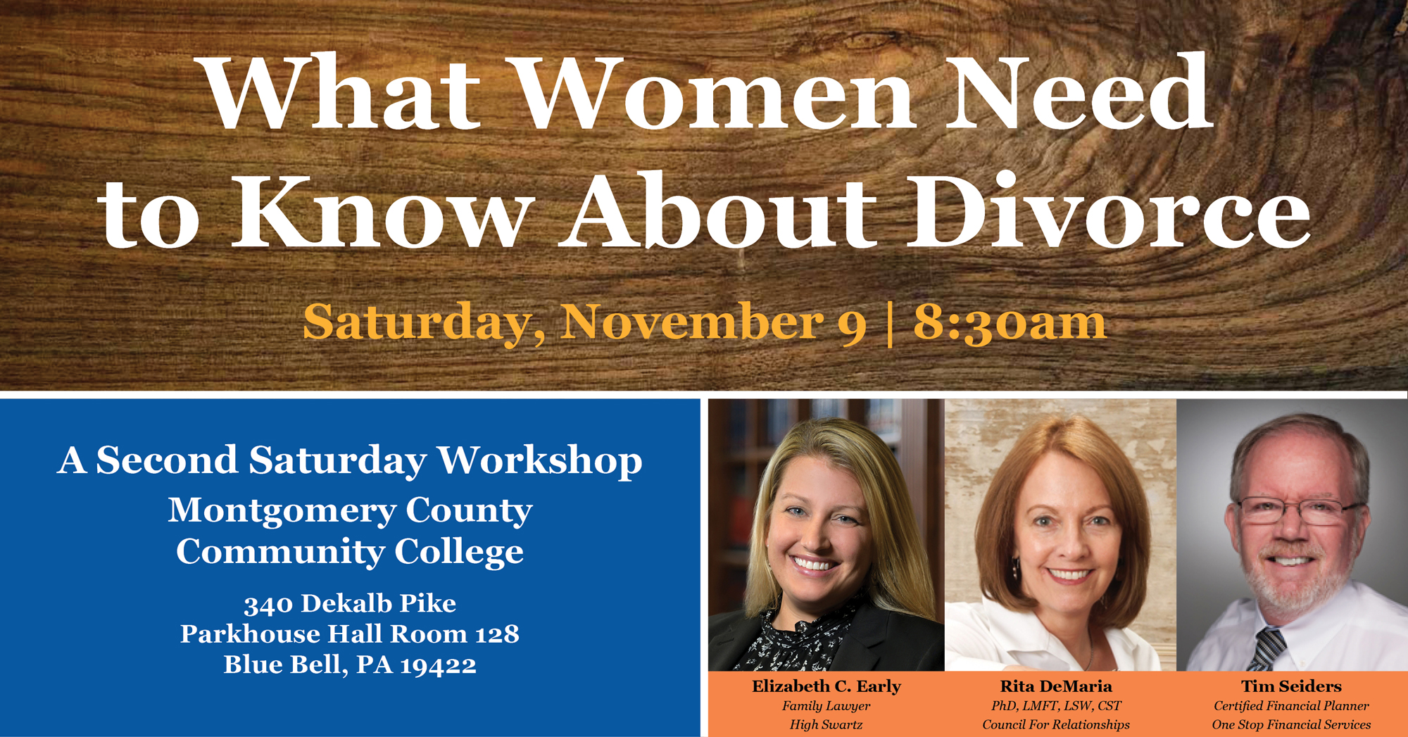 What Women Needs to Know About Divorce: Second Saturday Workshop
