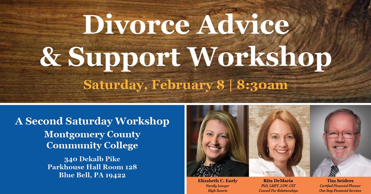 Divorce Advice & Support: Second Saturday Workshop